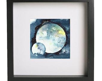 Celestial Planet 04 Watercolor Fine Art Print