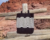 Wavy Black and White Recycled Cotton Tote Bag