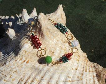 Gold wire bracelet