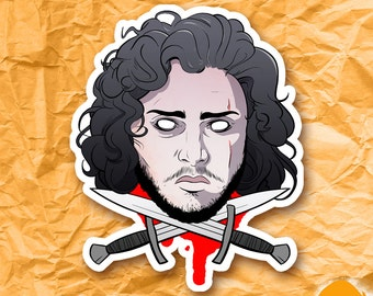 Jon Snow The Bastard Game of Thrones Sticker