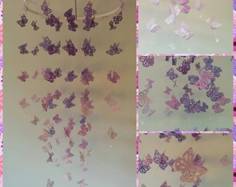 Butterfly chandelier mobile - nursery mobile