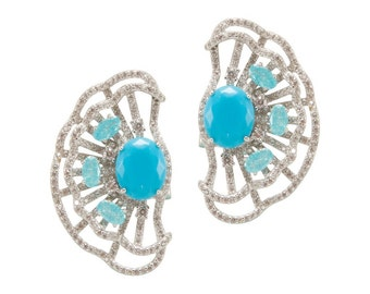 Lara Heems Lilly Earrings Turquoise