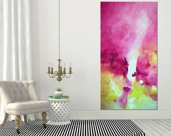 Original abstract painting Large Wall art Abstract art Abstract wall art Painting on Canvas Art Modern artwork Contemporary Pink painting