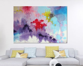 Large painting on canvas Large Art Abstract Painting Original Art Large Wall art Modern Art Violet Original Canvas art Wall hanging