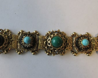 Vintage Stone Link Bracelet