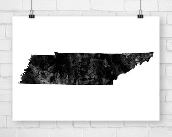 Printable Art Tennessee State, Watercolor, Tennessee Art, Tennessee Print, Tennessee Poster, Tennessee Watercolor, State Art