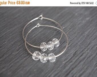 Hoop Earrings Simple Hoop Earrings Beaded Hoop Earrings Crystal  Hoop Earring  Crystal Beaded Hoop Earrings Swarovski Crystal Teardrop Hoops