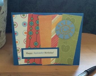 SALE!!! September Birthday Card