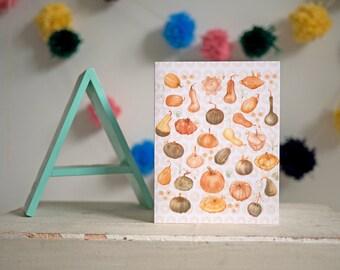 greeting card   card   squash   squashes   veggies   vegetable   culinary art   seasonal