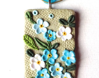 forget-me-not floral, floral during pendant