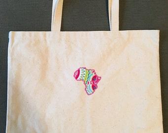 Pink Africa Tote Bag