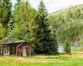 Cabin photo old rustic building picture shack homestead antique cowboy western fine art 8 x 10 gift nature turtlesandpeace
