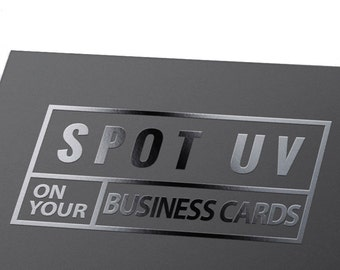 Business Cards Printing w/t Spot UV Coating - Custom offset printed CARDS with Standard coated paper
