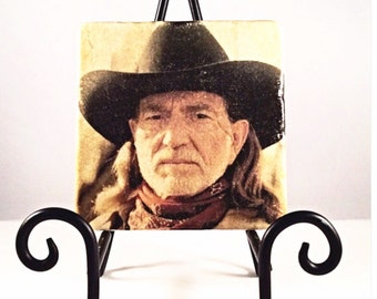 Willie Nelson Coaster Set ( includes 4 tiles)