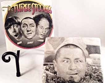 The Three Stooges Coaster Set ( includes 4 tiles )