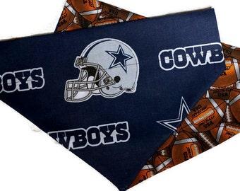 Dallas Cowboys Over the Collar Dog Bandana // Cowboys Reversible Dog Scarf // Dallas Cowboys Fan Gift // Cowboys Football Dog Bandanna