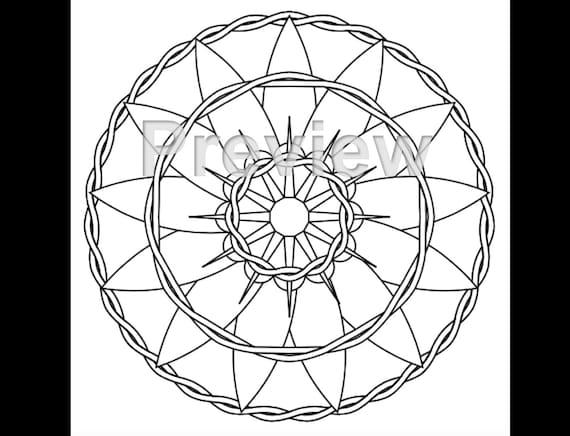 Adult Coloring Page Mandala Zen Art Style 2 Printable PDF