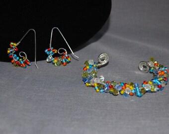 Boho Sparkle Bracelet and earring set