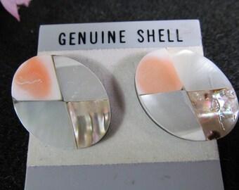 Genuine Shell, Fashion Earrings, Vintage Jewelry Accessories, Retro Fashionware, Vintage Costume Jewelry
