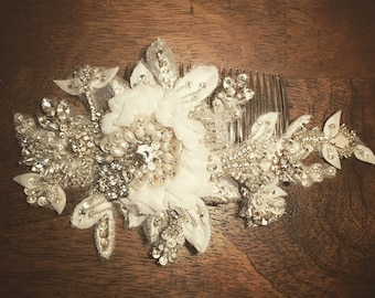 Boho Bouquet handmade bridal wedding haircomb headpiece