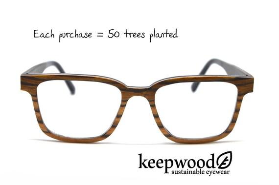 Zebra Wood Eyeglass Frames Wood Glasses Reading Glasses