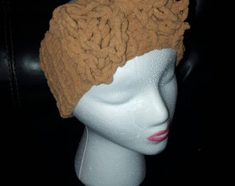 Child/toddler knit turban with bow