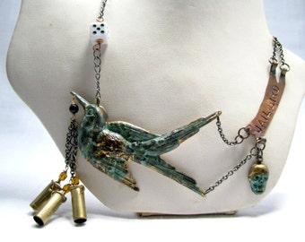 Jail Bird necklace