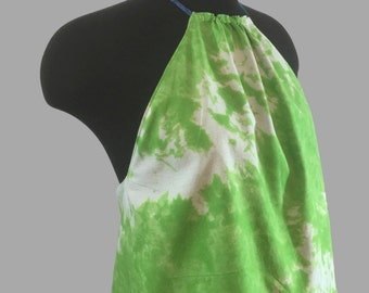 Green and Blue Tie-dye Reversible Halter !!!!