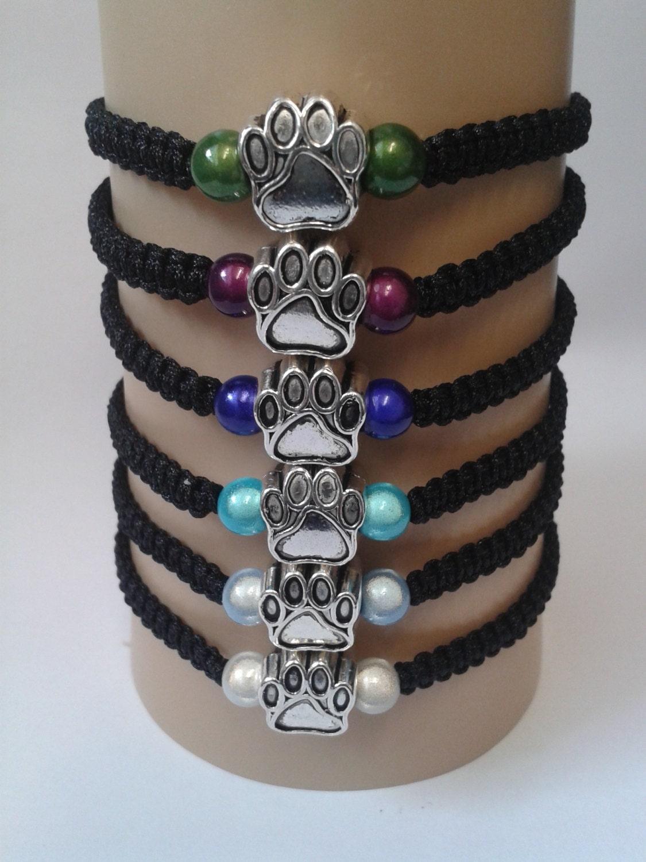 Paw print bracelet cat paw bracelet dog paw by katsmakes ...