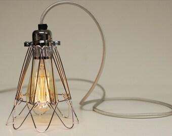 draht lampe k fig etsy. Black Bedroom Furniture Sets. Home Design Ideas