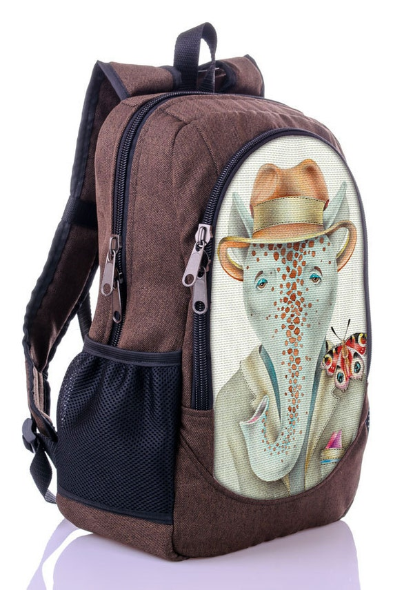 sale 20 elephant backpack print backpack canvas backpack
