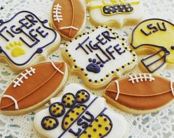 LSU Cookies_Geaux Tigers_Sugar Cookies