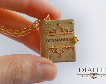 Miniature Book Charm - 'Ozymandias'