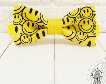 Bow Tie Smiles, Yellow Bow tie, Bowtie yellow, Yellow accessories