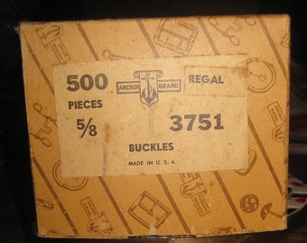 Old Factory Stock, Brass Buckles, 235 Pieces