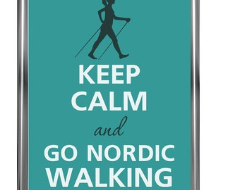 Keep kalm and go nordic walking - Art Print - Keep Calm Art -  Prints - Posters - Motivational quotes - Keep Calm Poster