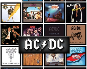 AC/DC 19 pack of album cover discography magnets