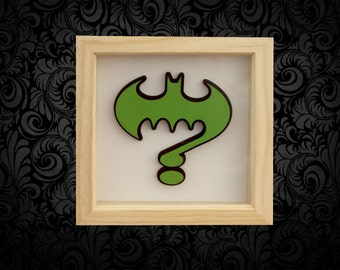 Riddler 3D Box Frame Wall Art