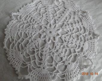 White lace doily