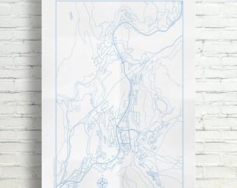 Whistler, British Columbia Regional Map Poster