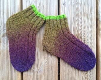 Knit Slipper | House Slippers | Wool Socks/Slippers | Hand Knitted Wool Socks | Size: 34/36 (EUR); 2-3,5 (UK); 4-5,5 (US)