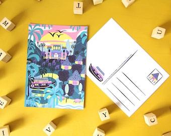 Card A6 - Latin Nature - greeting card / postcard - digital print