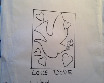 LOVE DOVE Flag Banner Pattern.  36 x 24""