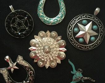 6 South West Western Necklace Pendants