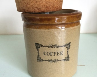 Set of 3 vintage storage jars