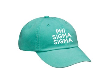 PhiSig Phi Sigma Sigma Simple Hat Choose Your Colors Sorority Hat