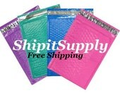 100 4x8 Color Poly Bubble Mailers blue pink purple teal or white Free Same Day Shipping