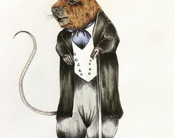 Mr Mouse character print