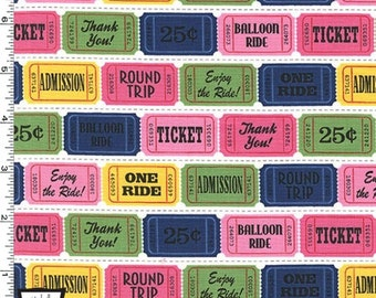 Up And Away - Ticket To Ride Fabric - Girl - Sold by the 1/2 Yard