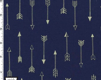 Arrow Flight - Arrows Fabric - Midnight - Sold by the 1/2 Yard